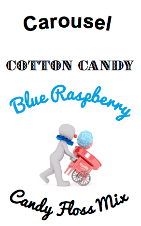 blue raspberry cotton candy floss sugar