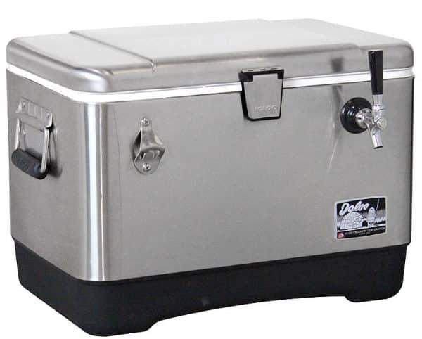 beer keg dispenser with keg tap co2 cold