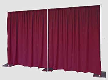 burgundy drapes and backdrops for rent