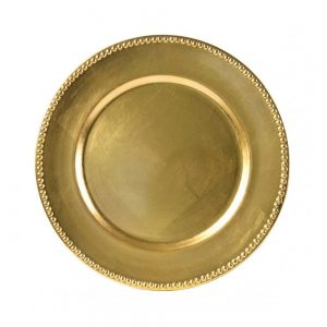 great special event gold charger plate for rental