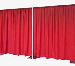 red backdrop pipe and drapes rental calgary wedding