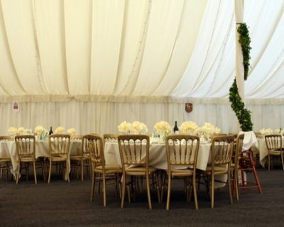 simple tent wedding setup