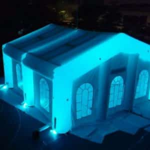 night glow wedding tent led