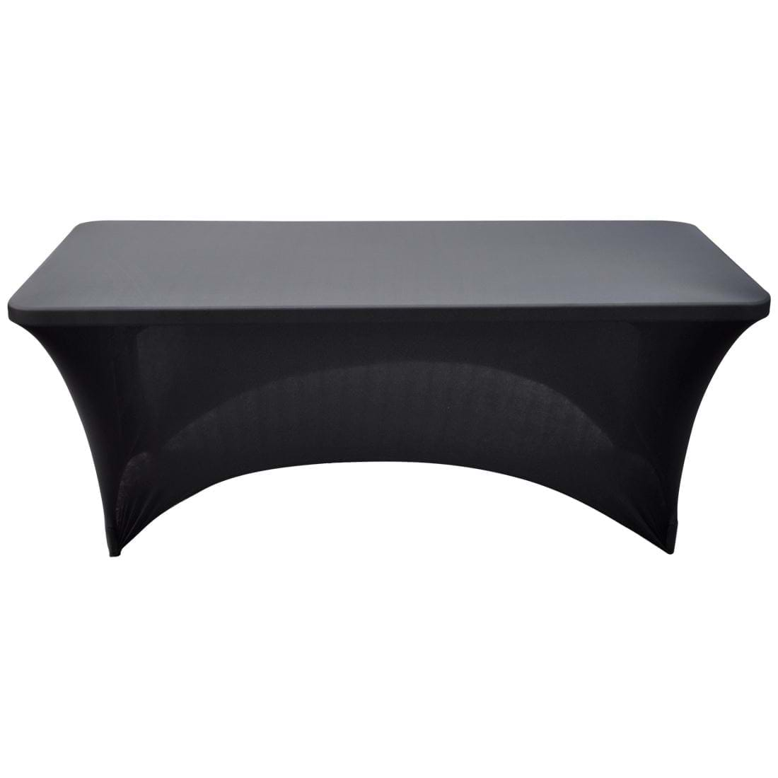 Spandex Table Cover 6ftx30 Quot Black Party Rental Depot Calgary